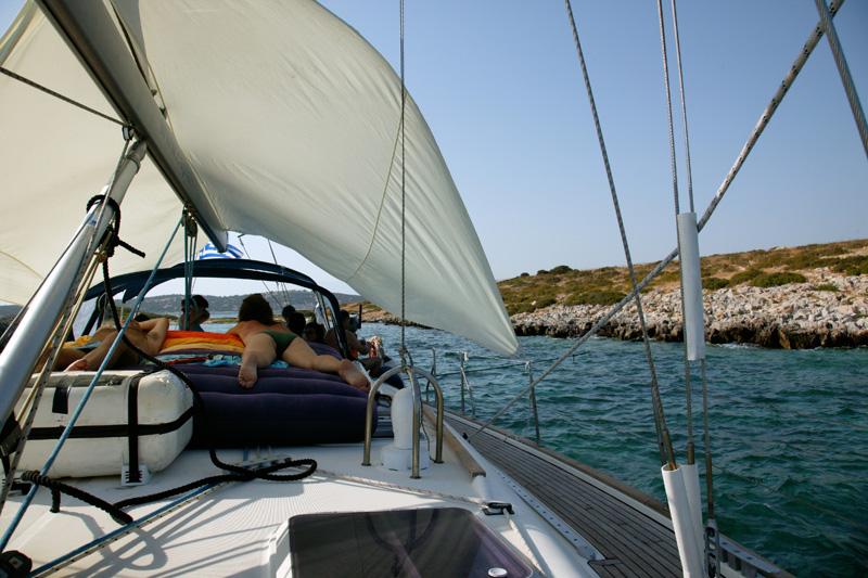 Bonheur sur un voilier