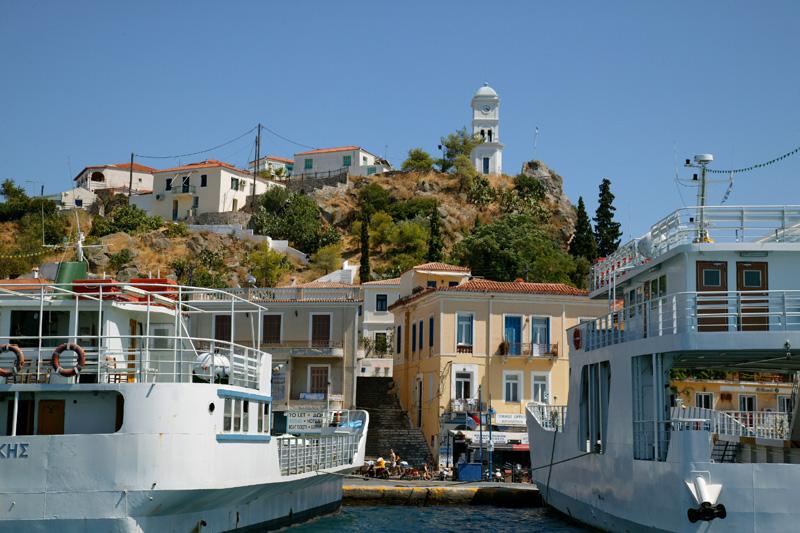 Centre du village sur l'île de Poros