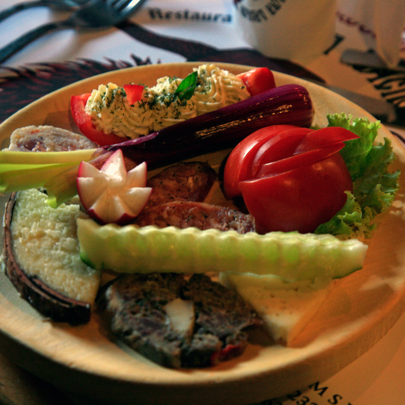 Repas à Poiana Brasov, restaurant Vradacilor