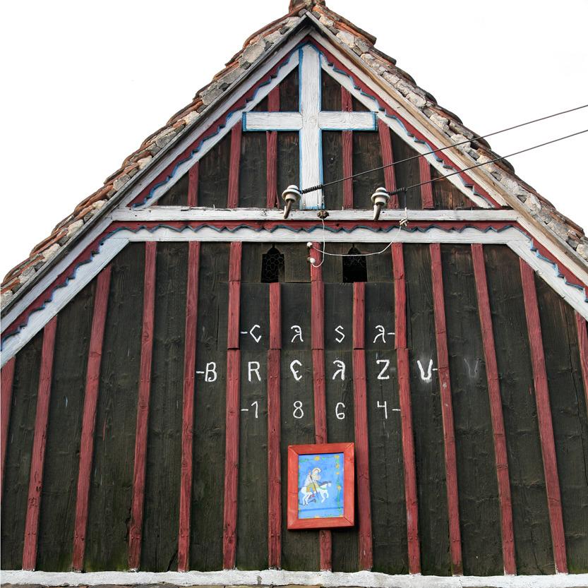 Des croix apposées sur les maisons, Sibiel