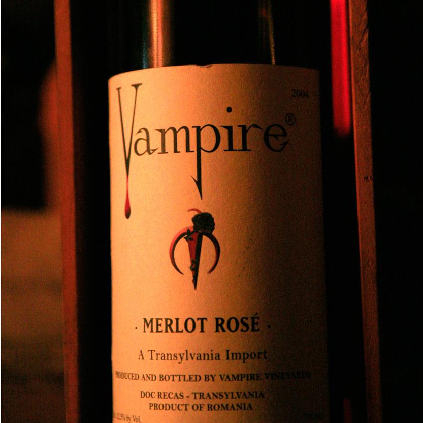 Vampire, merlot rosé, un cru excellent et hors de prix
