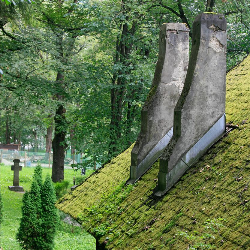 Au pied du Château de Bran