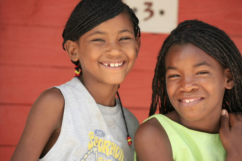 Enfants sur l'île Saona