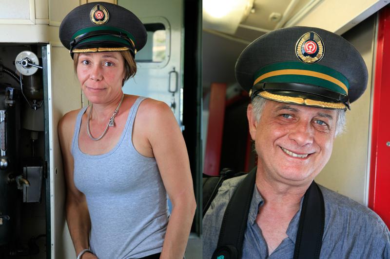Sophie & Jean-Jacques à bord du Transsibérien