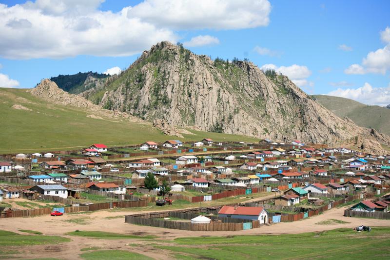 La ville de Tsetserleg