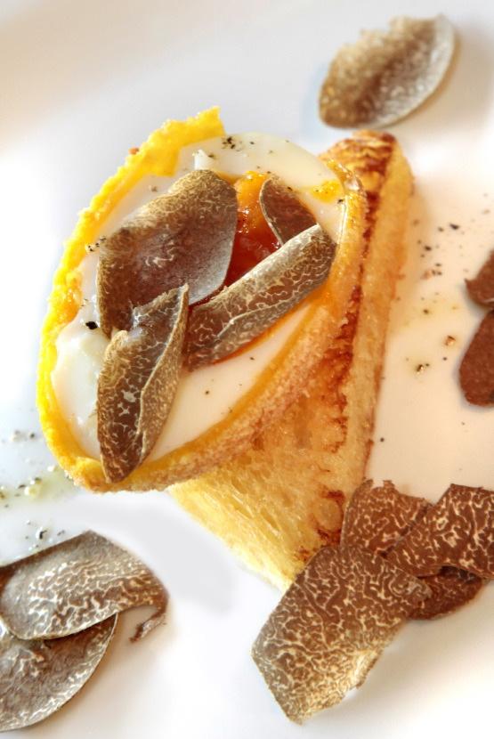 Uovo fritto con tartufo nero della Valpolicella