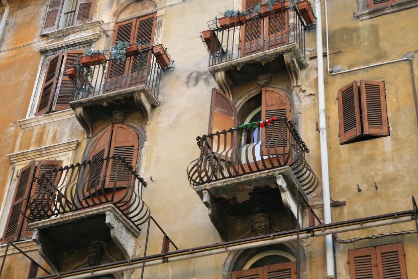 Balcons à Vérone
