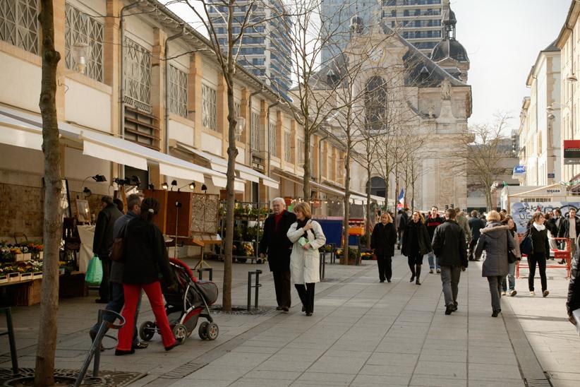 Rue du marché central, Nancy