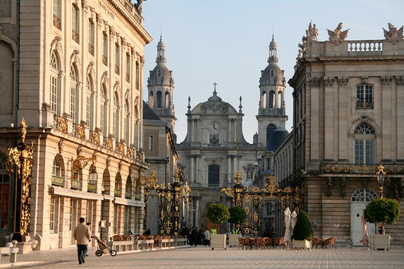 La cathédrale vue de la place Stanislas
