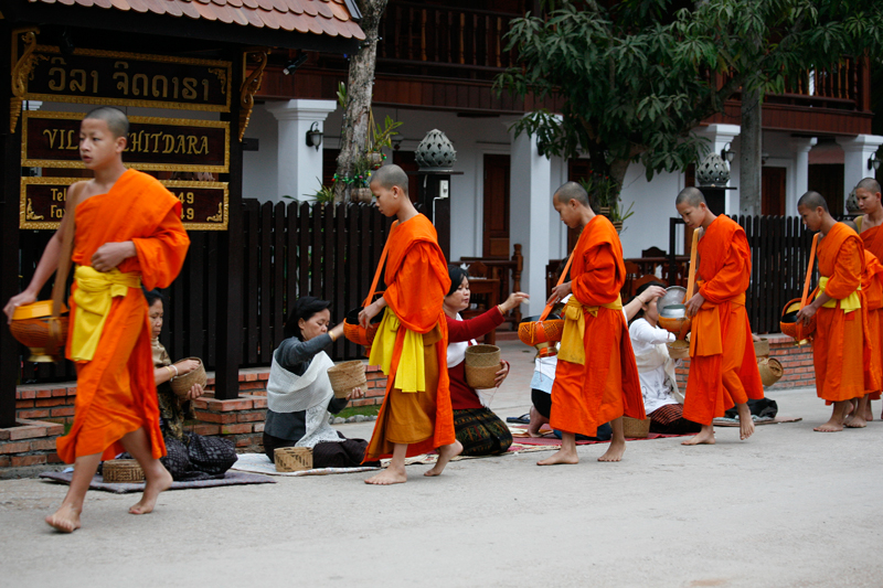 ... le grand spectacle de Luang Prabang