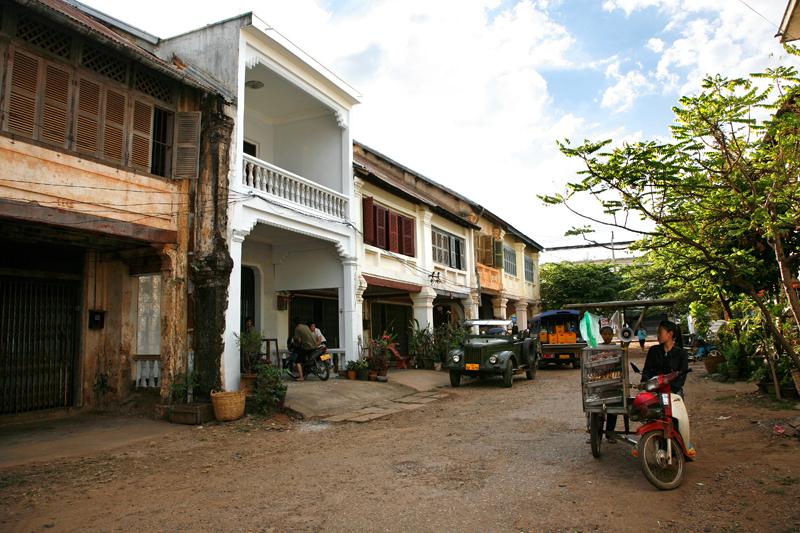 Shophouses, vieux quartier de Paksé