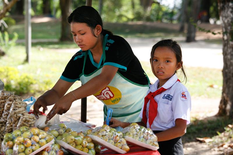Vientiane, à l'heure du déjeuner