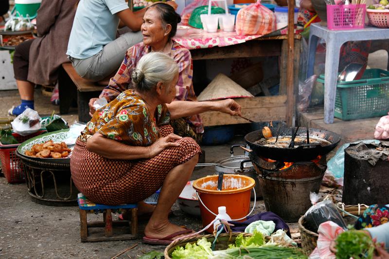 Luang Prabang : petit marché local