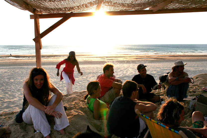 La bohème du soleil couchant à la cabane