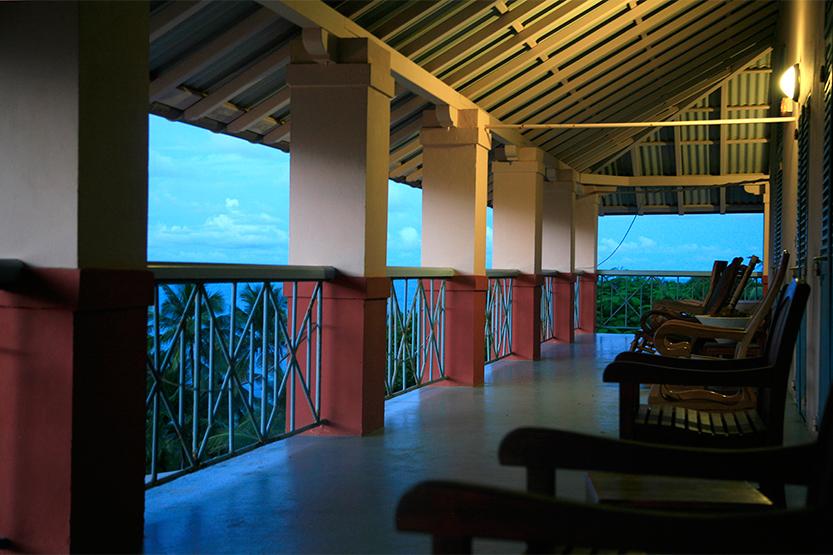 Terrasse de l'Auberge des officiers, Île Royale