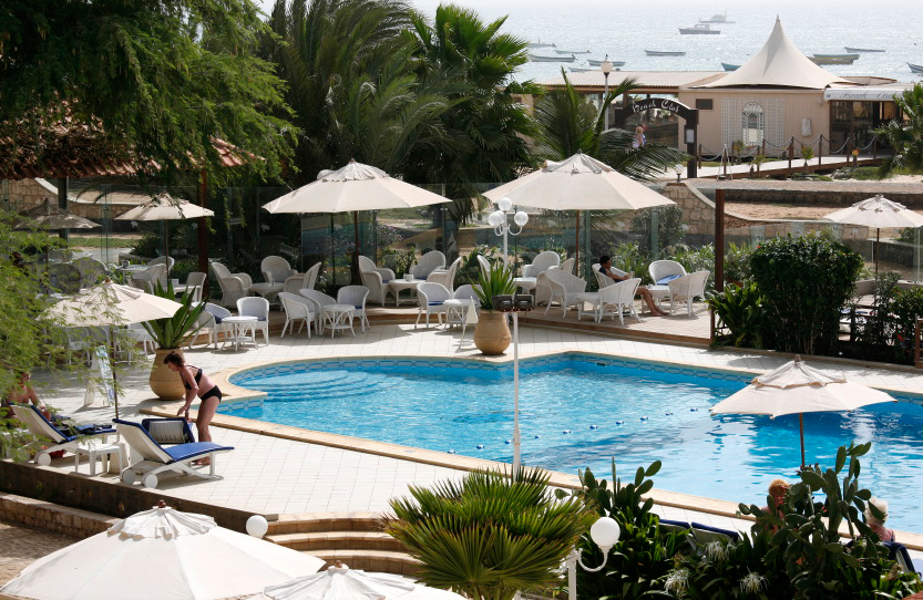 La piscine centrale du Morabeza Hotel