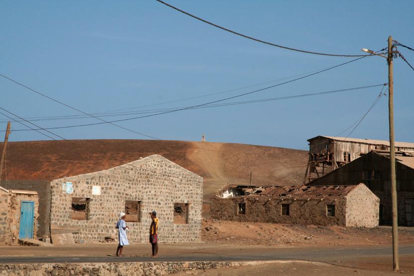 Ruines de l'ancienne usine de sel à Pedra de Lume
