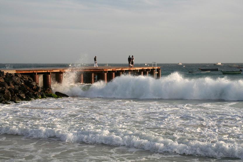 Le fameux ponton des pêcheurs à Santa Maria