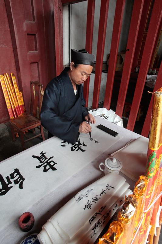 Moine taoiste sur le Mont Taishan