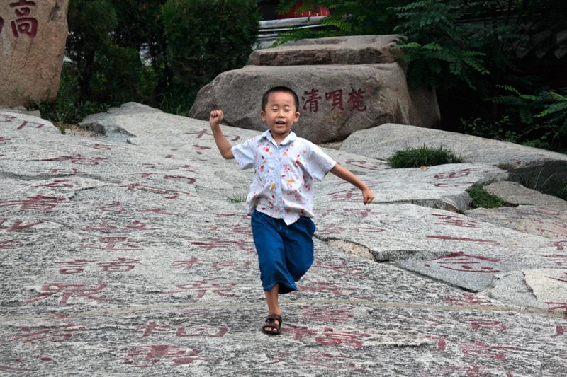 Sur les roches gravées du temple Dai