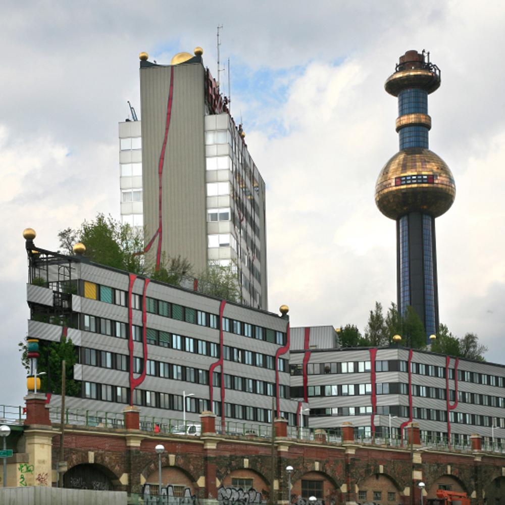 L'incinérateur au bord du Danube de Hundertwasser