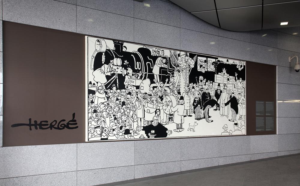 Hergé dans le métro