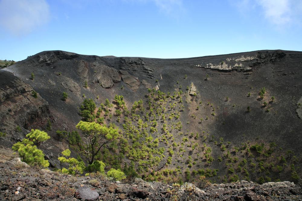 Crêtes au sommet du volcan San Antonio, La Palma