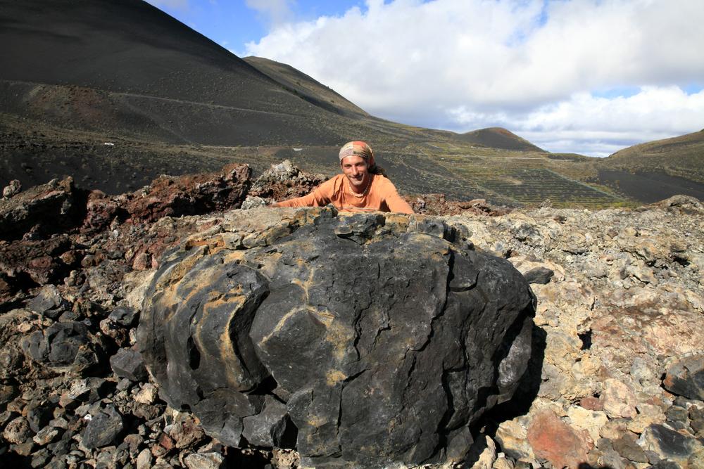 Roche expulsée lors de la dernière éruption du volcan Tenequia, La Palma