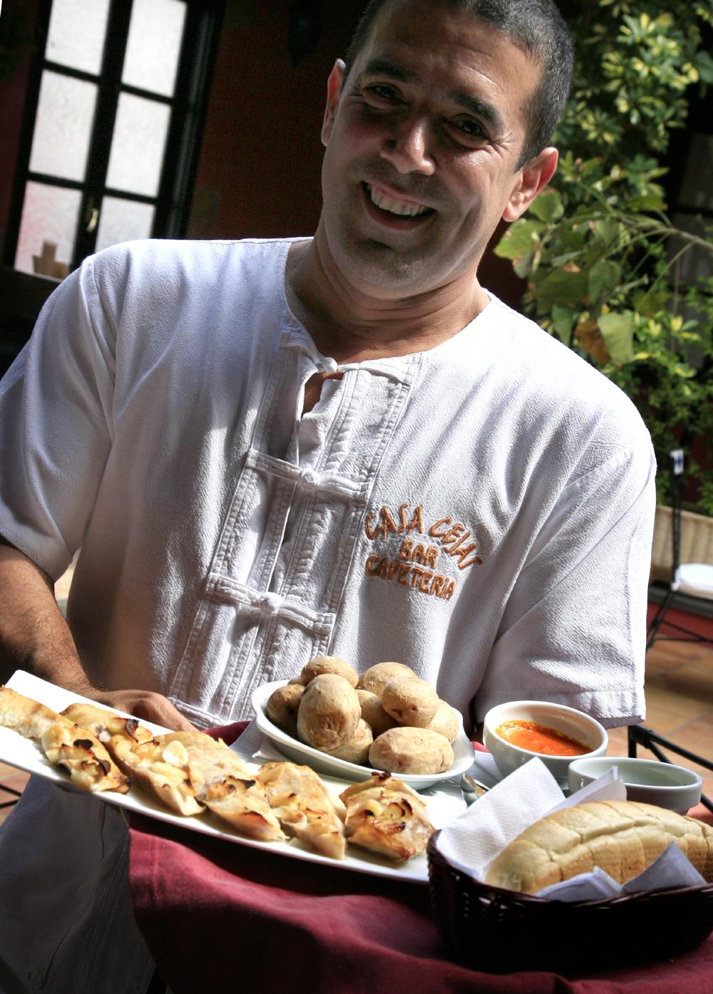 Merveilleux repas à Cejas, plaza San Francisco, Teguise