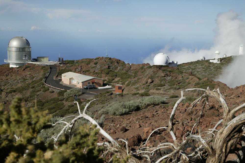 Téléscopes à «Roque de los Muchachos», au sommet de la Caldeira de Taburiente