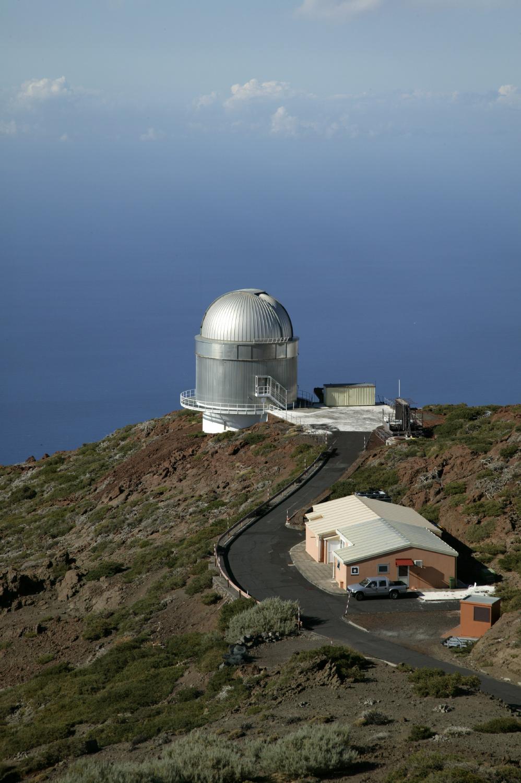 Téléscope belge Mercator à «Roque de los Muchachos», sommet de la Caldeira de Taburiente