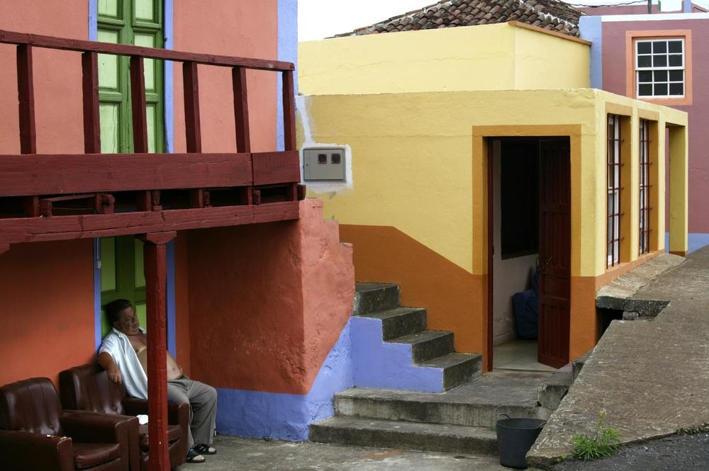 Architecture colorée de Barlovento, La Palma
