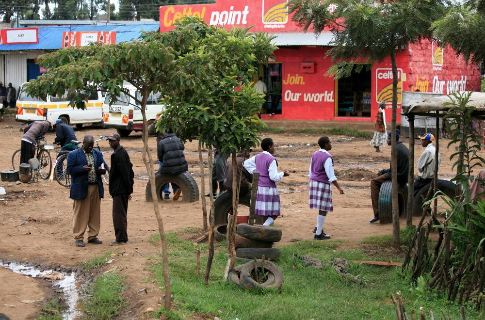 Dans la banlieue de Nairobi