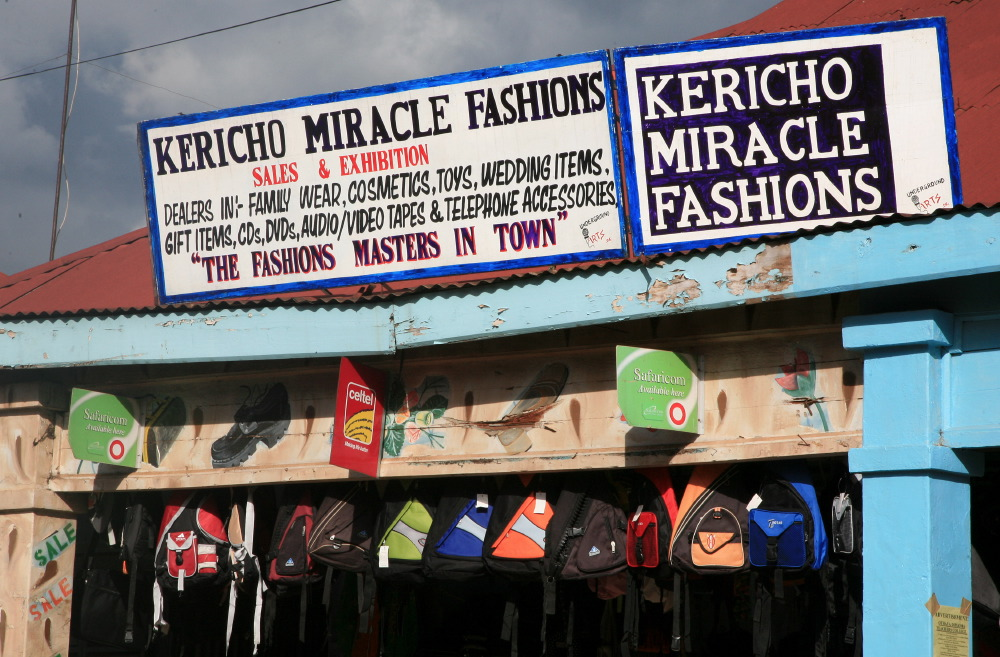Au coeur de la ville de Kericho