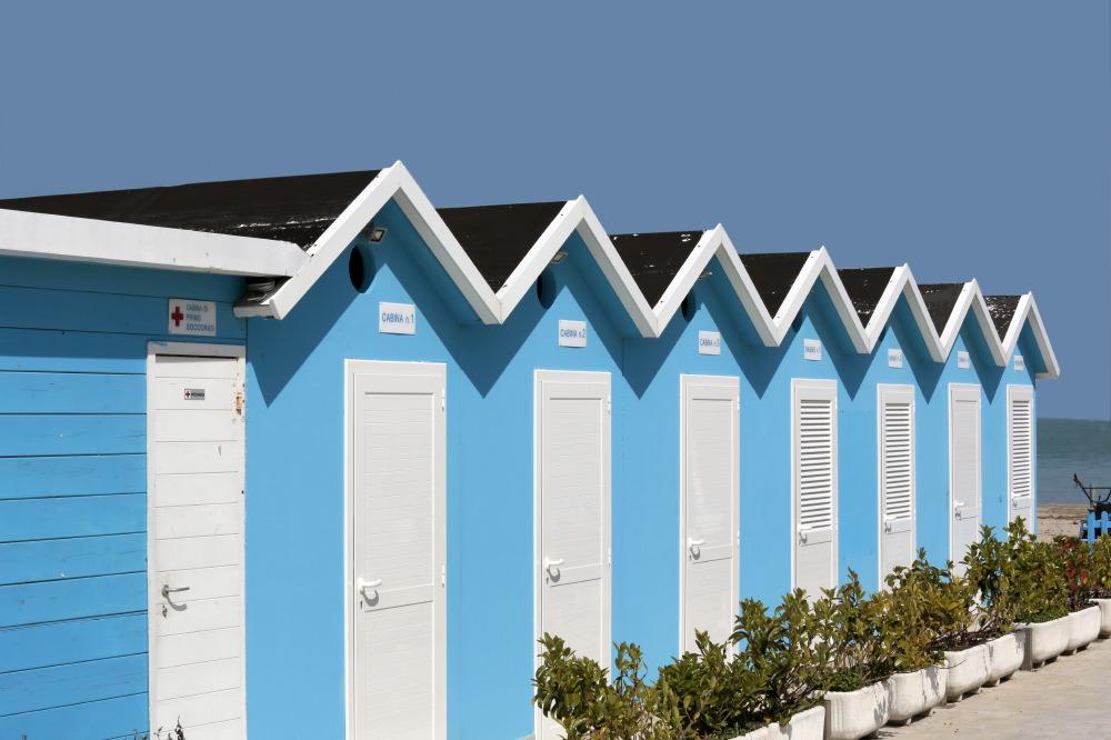 Cabines à Porto San Giorgio
