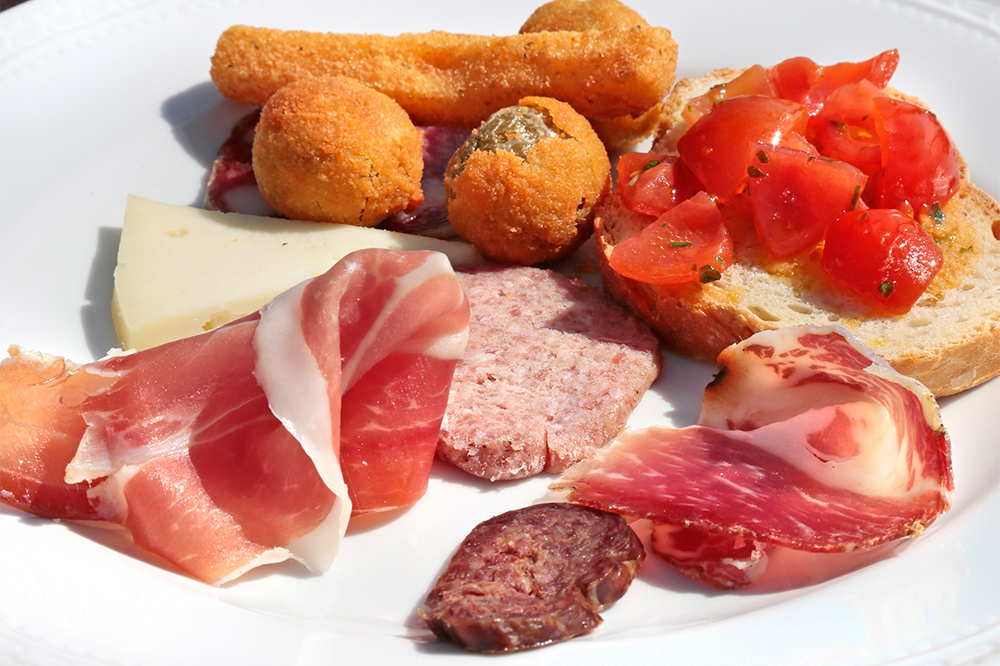 Anti-pasti traditionnels de la région de Fermo