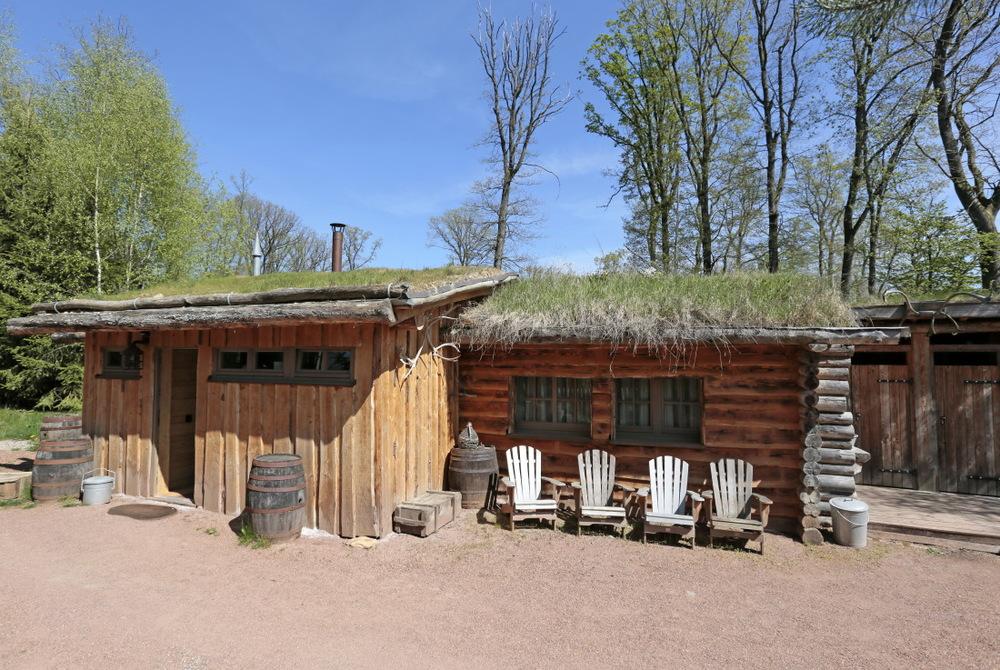 Cabane du Trappeur (6pers), vue sur les loups blancs