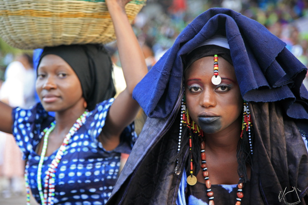 Femmes Fulani en costume traditionnel