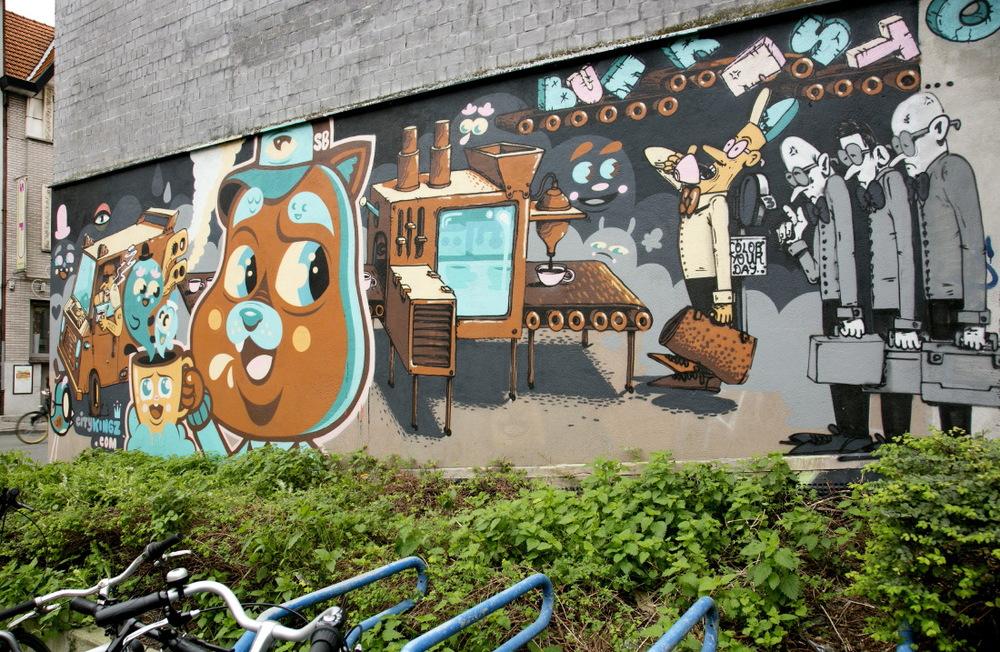 Werregarenstraatje, la ruelle aux grafittis