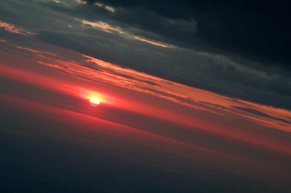 Soleil d'hiver, sur le pic du Midi