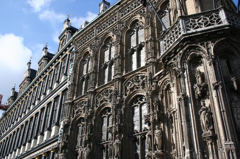 Hôtel de ville, angle Botermarkt#Hoogpoort