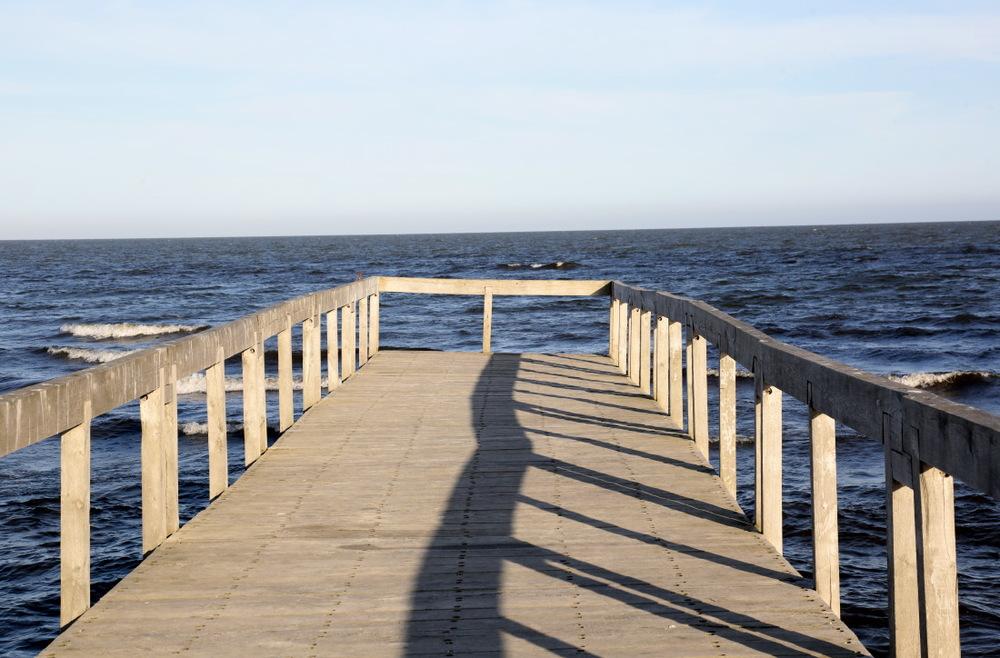 Au bout de la plage de Salina