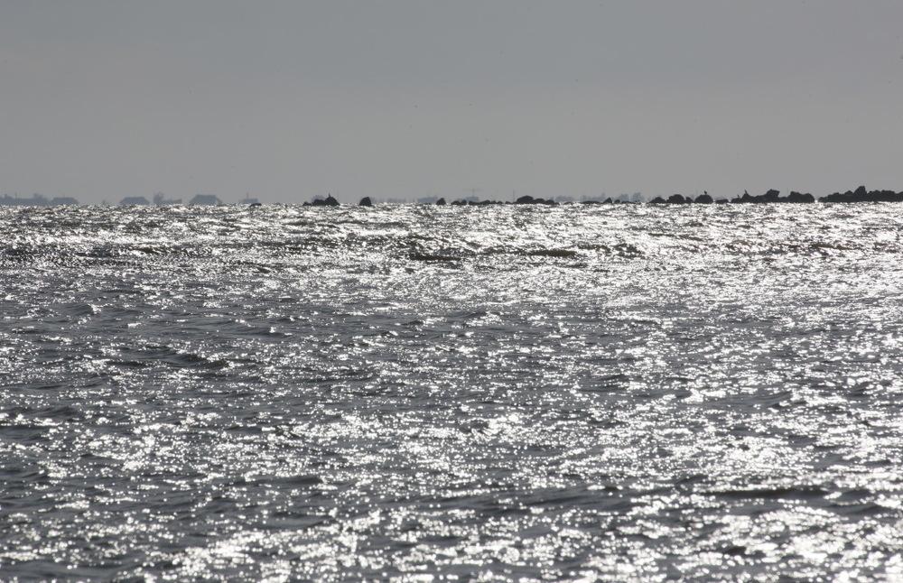Tout au bout du chenal de Salina, la Mer Noire...