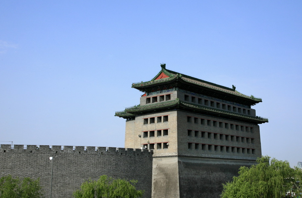 Qianmen Archery tower at Southern edge of Tian'anmen square