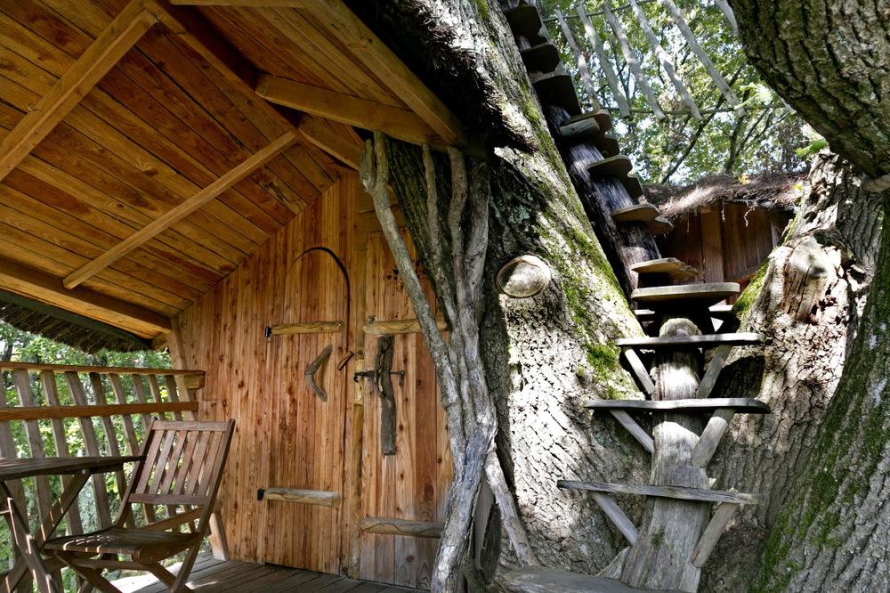 Dans les cabanes perchées de Chanteclair