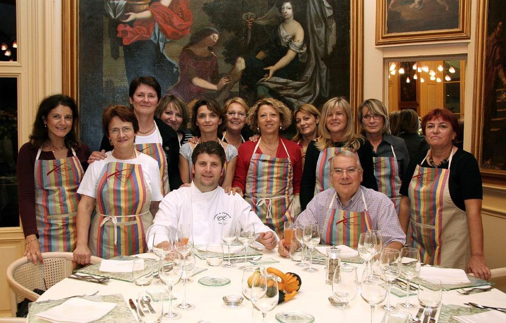 """Gastronomy class avec Chef Olivier Boizet au """"Château de Champlong"""", Villerest"""