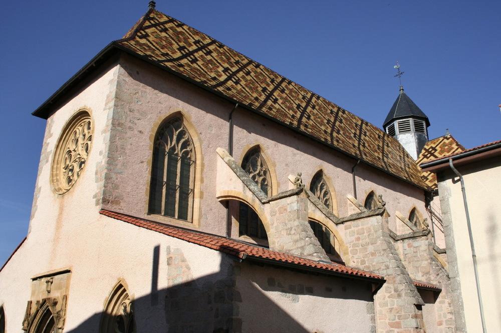 Toit vernissé de l'église d'Ambierle