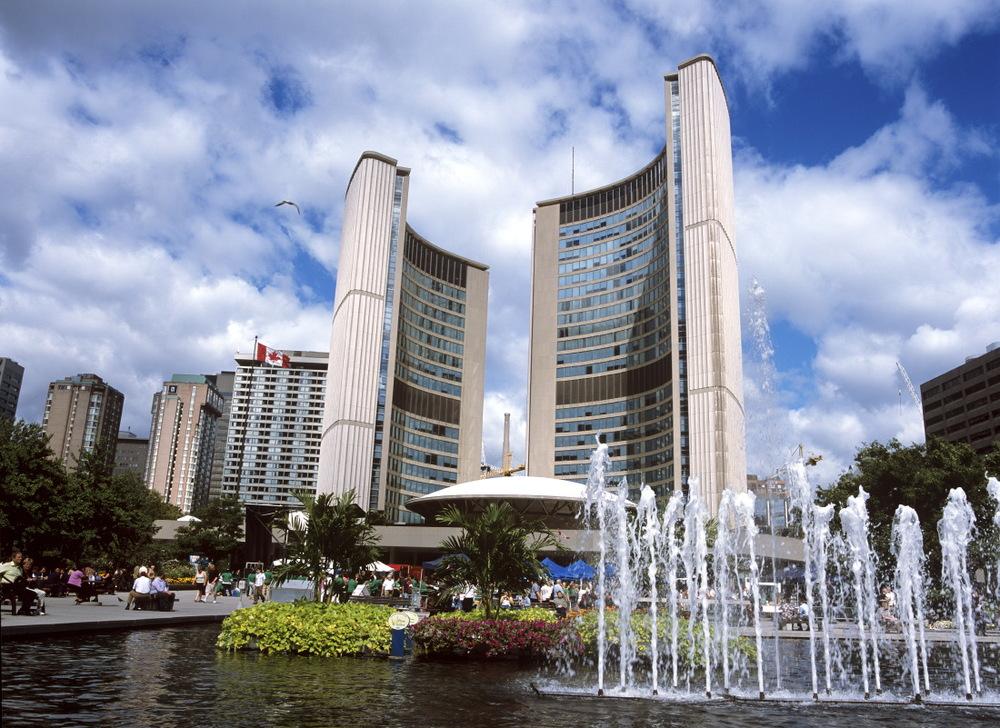 Les tours du nouvel hôtel de ville de Toronto