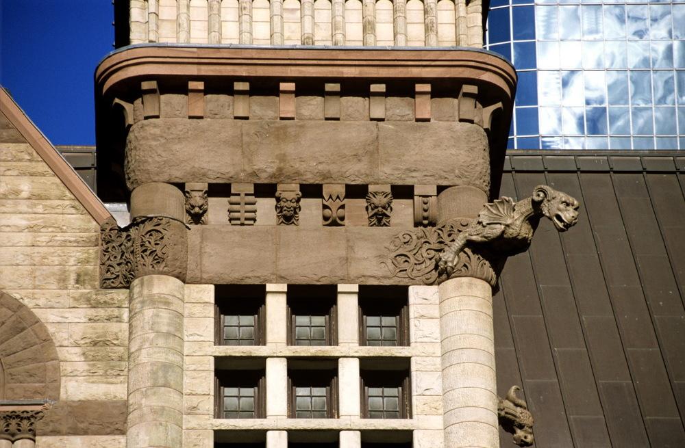 Détail de l'ancien hôtel de ville de Toronto