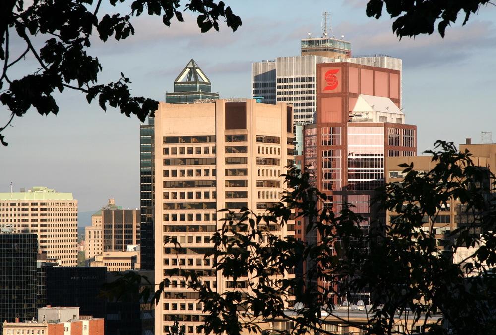 Dernière vision de Montréal depuis le chalet du Mont Royal